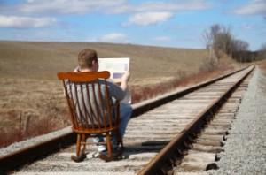 Man On Train tracks